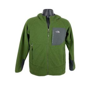 North Face Boys Zip Up Hoodie Sherpa Lined SZ L